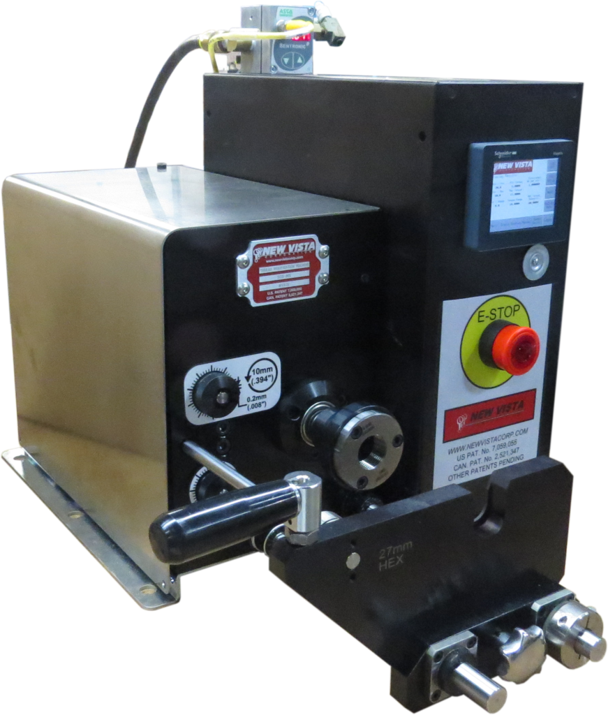 Here's an SCD-MX that verifies high/low limits on tapered pipe threads. The rpm, the torque level and the thread depth are all selectable off the Touchscreen.