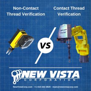 Graphic illustrating a camera system (non-contact) vs a New Vista RT
